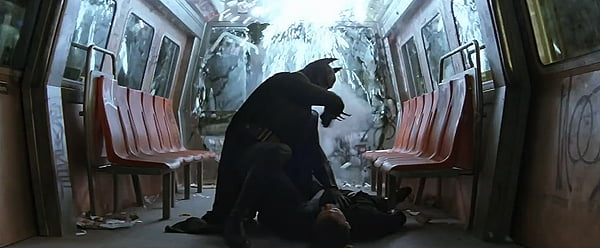 Batman on a train fight