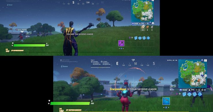 Fortnite Split Screen