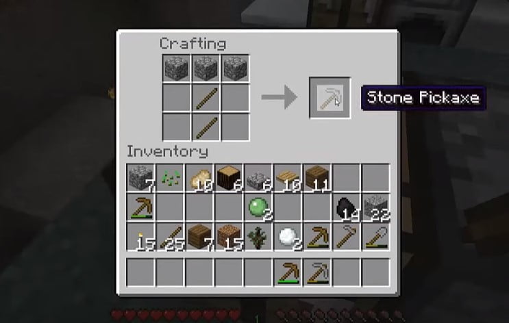 Stone Pickaxe Finish