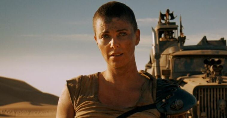Charlize Theron As Furiosa With Truck In Mad Max Fury Road