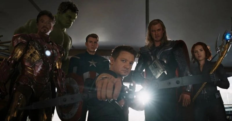 Iron Man Hulk Captain America Hawkeye Thor And Black Widow In The Avengers