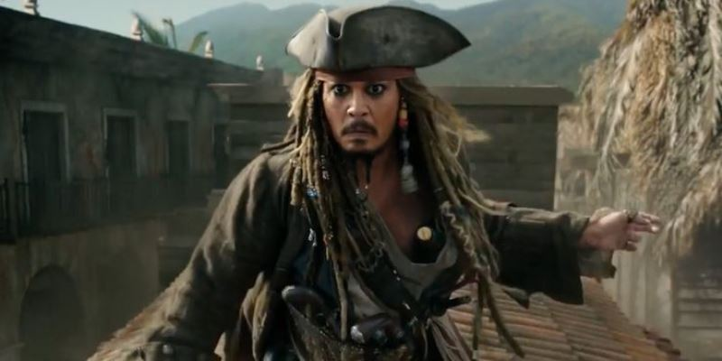 Johnny Depp As Captain Jack Sparrow In Pirates Of The Caribbean On Stranger Tides