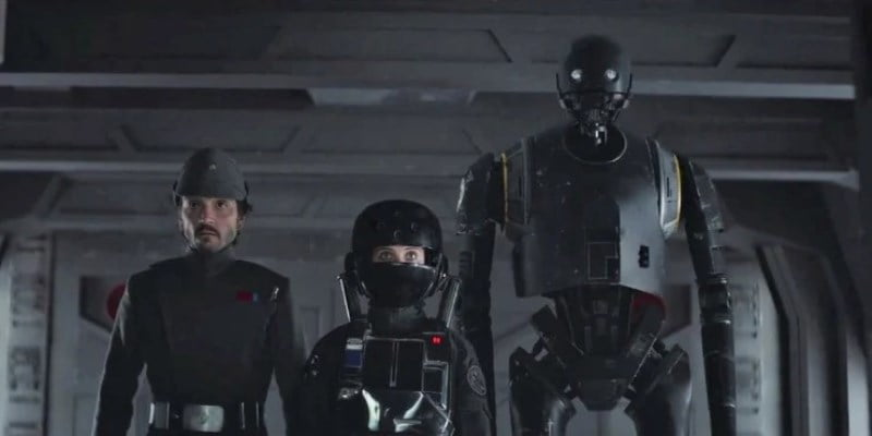 Rogue One A Star Wars Story Cassian Andor Jyn Erso And K 2so In Disguise Cropped11