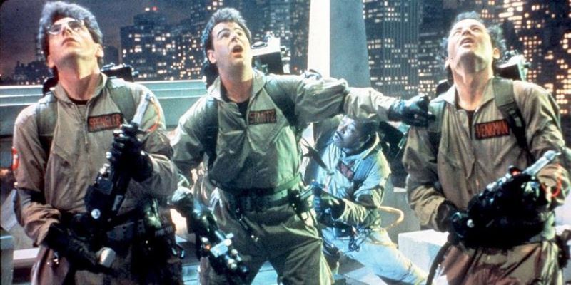 Bill Murray Dan Aykroyd And Harold Ramis In Ghostbusters