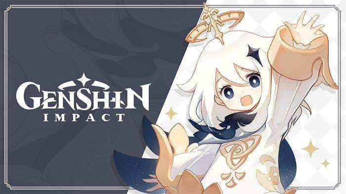 Genshin Impact With Cute Paimon