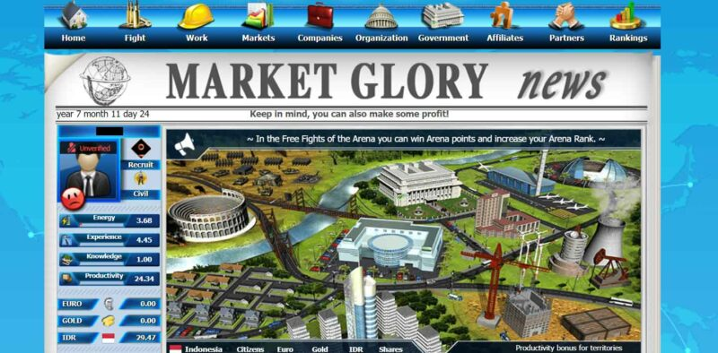 Best Money Making Games, Market Glory