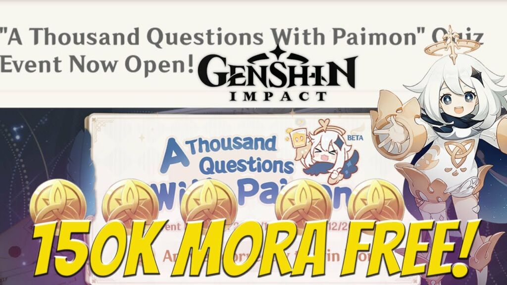 Quiz Answer for Paimon Event Called A Thousand Questions With Paimon