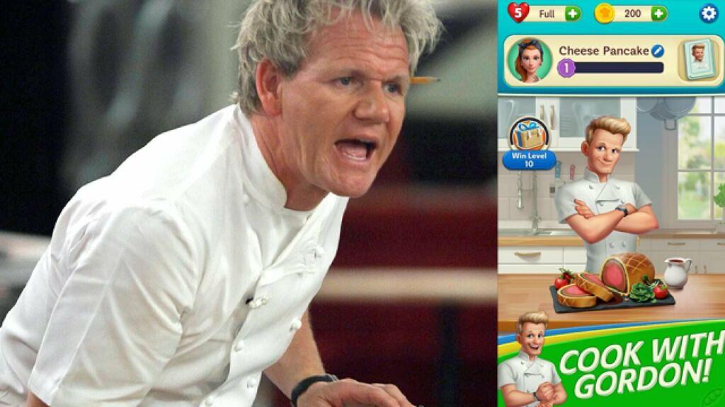 Chef Gordon Ramsay Develops Mobile Game Named Chef Blast