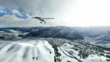 Microsoft Flight Simulator Adds Real-Time Snow