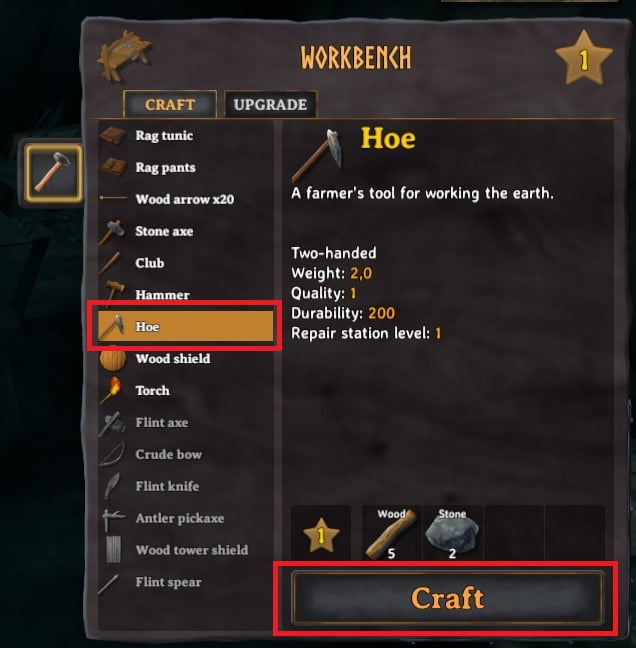 how to craft a hoe in valheim 4