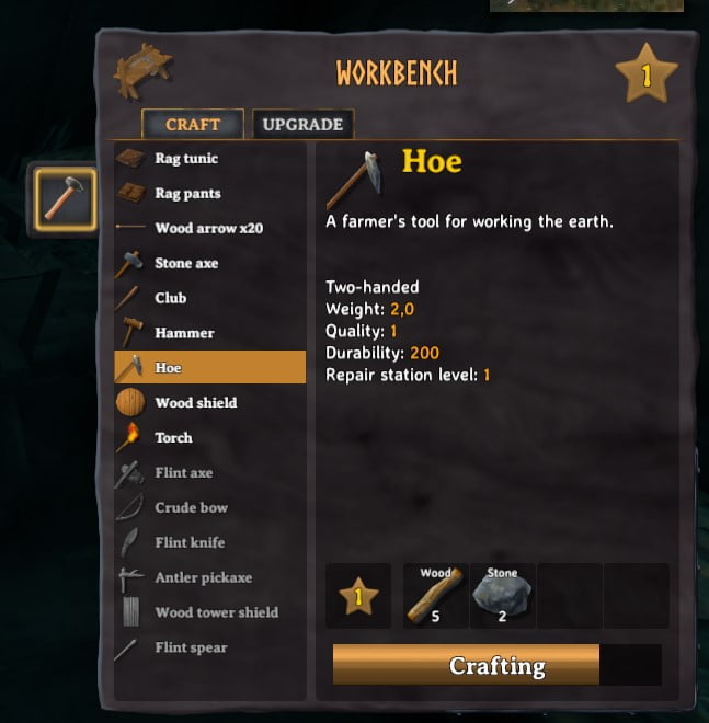 how to craft a hoe in valheim 5
