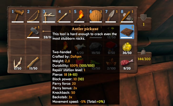 how to craft an antler pickaxe in valheim 6
