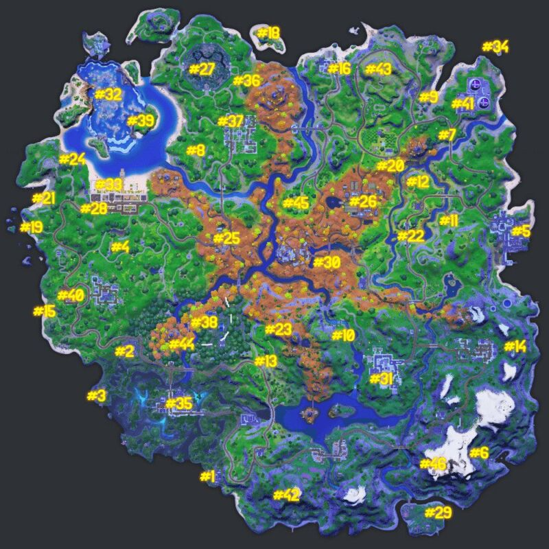 Fortnite Npc Locations Map